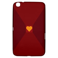 Heart Red Yellow Love Card Design Samsung Galaxy Tab 3 (8 ) T3100 Hardshell Case