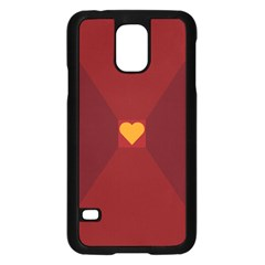 Heart Red Yellow Love Card Design Samsung Galaxy S5 Case (black)