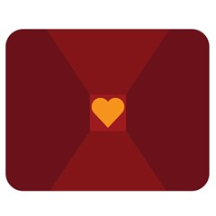 Heart Red Yellow Love Card Design Double Sided Flano Blanket (medium)  by Nexatart