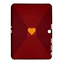 Heart Red Yellow Love Card Design Samsung Galaxy Tab 4 (10 1 ) Hardshell Case