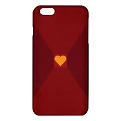 Heart Red Yellow Love Card Design Iphone 6 Plus/6s Plus Tpu Case by Nexatart