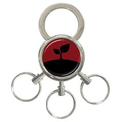Plant Last Plant Red Nature Last 3 Ring Key Chains