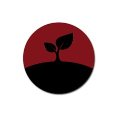 Plant Last Plant Red Nature Last Magnet 3  (round)