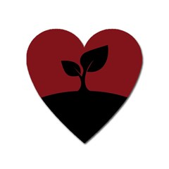Plant Last Plant Red Nature Last Heart Magnet by Nexatart