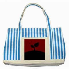 Plant Last Plant Red Nature Last Striped Blue Tote Bag by Nexatart