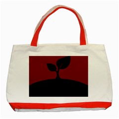 Plant Last Plant Red Nature Last Classic Tote Bag (red) by Nexatart