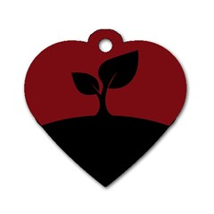 Plant Last Plant Red Nature Last Dog Tag Heart (two Sides)