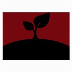Plant Last Plant Red Nature Last Large Glasses Cloth by Nexatart