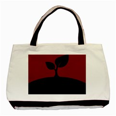 Plant Last Plant Red Nature Last Basic Tote Bag (two Sides) by Nexatart