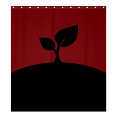 Plant Last Plant Red Nature Last Shower Curtain 66  X 72  (large)  by Nexatart
