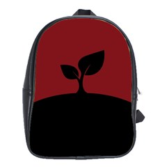 Plant Last Plant Red Nature Last School Bags(large)