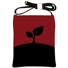 Plant Last Plant Red Nature Last Shoulder Sling Bags