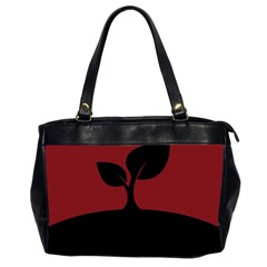 Plant Last Plant Red Nature Last Office Handbags (2 Sides)  by Nexatart