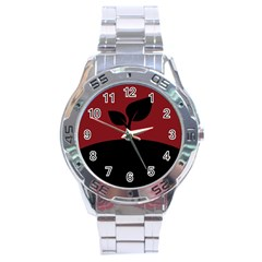 Plant Last Plant Red Nature Last Stainless Steel Analogue Watch by Nexatart