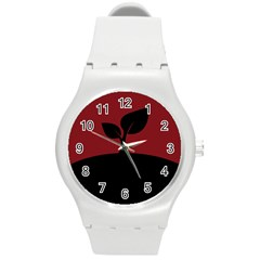 Plant Last Plant Red Nature Last Round Plastic Sport Watch (m) by Nexatart