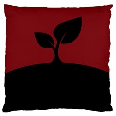 Plant Last Plant Red Nature Last Large Cushion Case (two Sides) by Nexatart