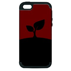 Plant Last Plant Red Nature Last Apple Iphone 5 Hardshell Case (pc+silicone) by Nexatart