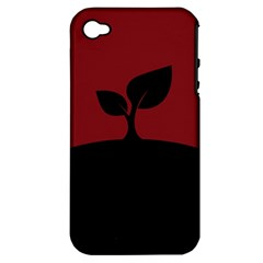 Plant Last Plant Red Nature Last Apple Iphone 4/4s Hardshell Case (pc+silicone) by Nexatart