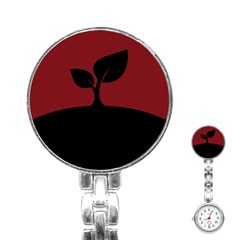 Plant Last Plant Red Nature Last Stainless Steel Nurses Watch by Nexatart