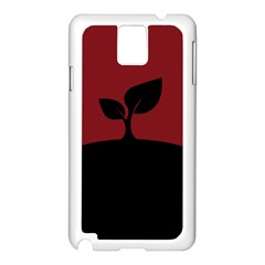 Plant Last Plant Red Nature Last Samsung Galaxy Note 3 N9005 Case (White) by Nexatart