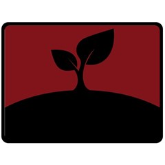 Plant Last Plant Red Nature Last Double Sided Fleece Blanket (large)  by Nexatart