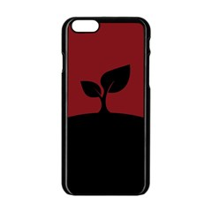 Plant Last Plant Red Nature Last Apple Iphone 6/6s Black Enamel Case by Nexatart