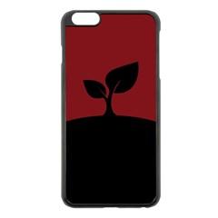 Plant Last Plant Red Nature Last Apple Iphone 6 Plus/6s Plus Black Enamel Case