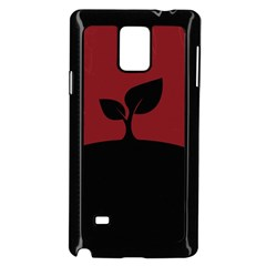Plant Last Plant Red Nature Last Samsung Galaxy Note 4 Case (black)