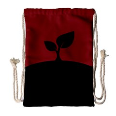 Plant Last Plant Red Nature Last Drawstring Bag (large) by Nexatart
