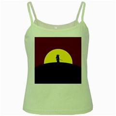 Samurai Warrior Japanese Sword Green Spaghetti Tank