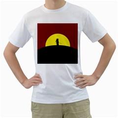 Samurai Warrior Japanese Sword Men s T Shirt (white) (two Sided)
