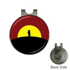 Samurai Warrior Japanese Sword Hat Clips With Golf Markers
