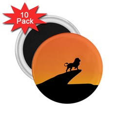Lion Sunset Wildlife Animals King 2 25  Magnets (10 Pack)