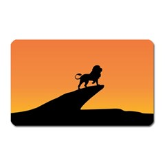 Lion Sunset Wildlife Animals King Magnet (rectangular)