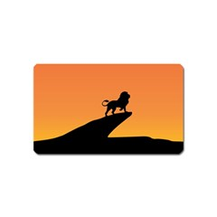 Lion Sunset Wildlife Animals King Magnet (name Card)