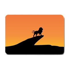 Lion Sunset Wildlife Animals King Small Doormat