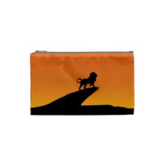 Lion Sunset Wildlife Animals King Cosmetic Bag (small)  by Nexatart