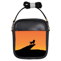 Lion Sunset Wildlife Animals King Girls Sling Bags
