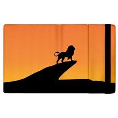 Lion Sunset Wildlife Animals King Apple Ipad 3/4 Flip Case by Nexatart