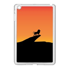 Lion Sunset Wildlife Animals King Apple Ipad Mini Case (white) by Nexatart