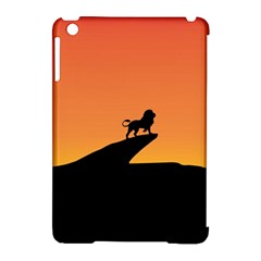 Lion Sunset Wildlife Animals King Apple Ipad Mini Hardshell Case (compatible With Smart Cover) by Nexatart
