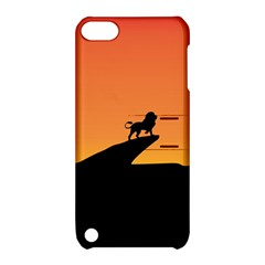 Lion Sunset Wildlife Animals King Apple Ipod Touch 5 Hardshell Case With Stand by Nexatart