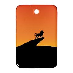 Lion Sunset Wildlife Animals King Samsung Galaxy Note 8 0 N5100 Hardshell Case  by Nexatart