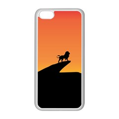 Lion Sunset Wildlife Animals King Apple Iphone 5c Seamless Case (white) by Nexatart