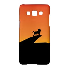 Lion Sunset Wildlife Animals King Samsung Galaxy A5 Hardshell Case