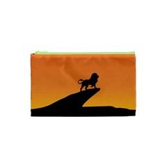 Lion Sunset Wildlife Animals King Cosmetic Bag (xs)