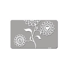 Flower Heart Plant Symbol Love Magnet (name Card)