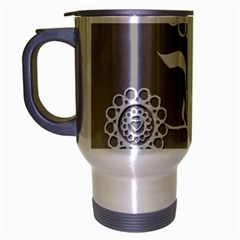 Flower Heart Plant Symbol Love Travel Mug (silver Gray) by Nexatart