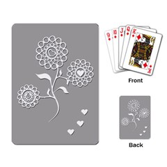 Flower Heart Plant Symbol Love Playing Card by Nexatart
