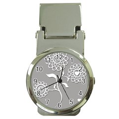 Flower Heart Plant Symbol Love Money Clip Watches by Nexatart